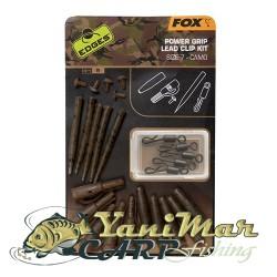 Fox Edges Camo Power Grip Lead Clip Kit