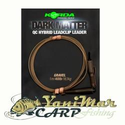 Korda Dark Matter Leader QC Hybrid Clip 40lbs 1m