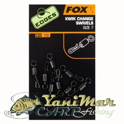 Fox Edges Kwik Change Swivels Size 7