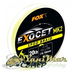 Fox Exocet® MK2 Spod & Marker Braid 0.18mm/20lb x300m Spod -Yellow