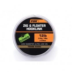FOX Zig & Floater Hooklink Trans Khaki